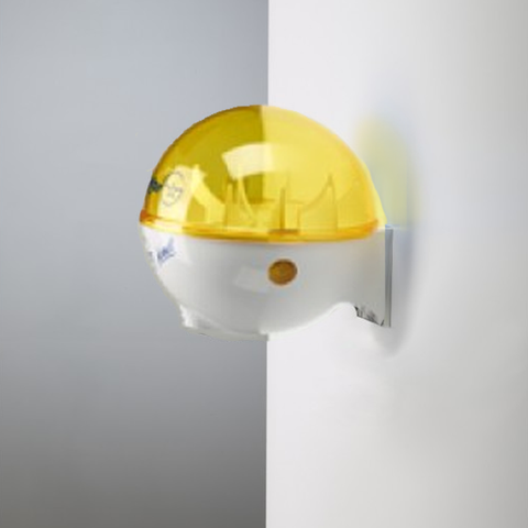 32oz Dispenser w/ Wall Mount White/Yellow