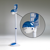 32oz Dispenser w/ Floorstand White/Blue