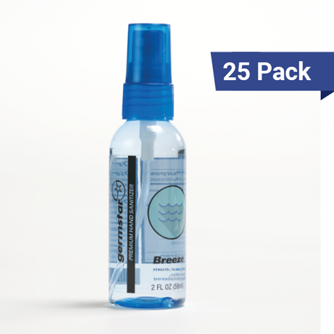 2oz Spray Bottles Breeze 25 Pack