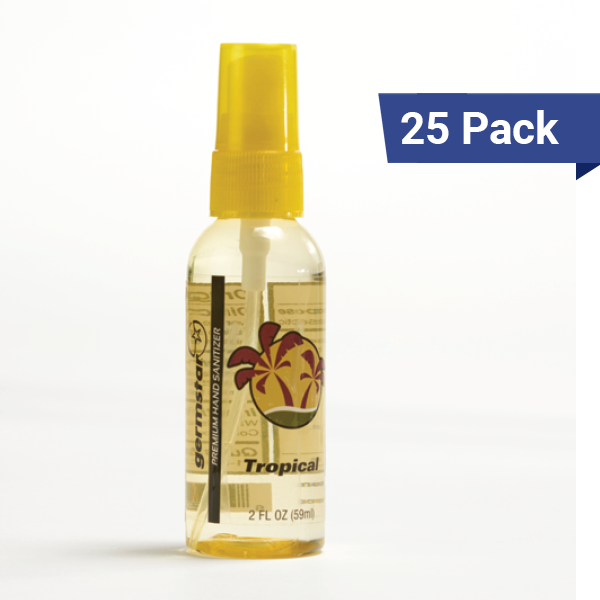 2oz Spray Bottles Tropical 25 Pack