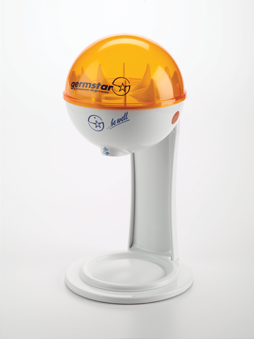 32oz Dispenser w/ Tablestand White/Orange