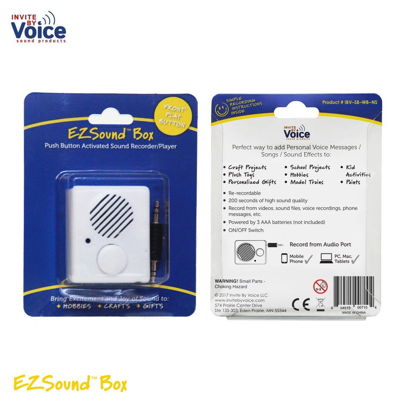 Recordable EZSound Box front button full packaging