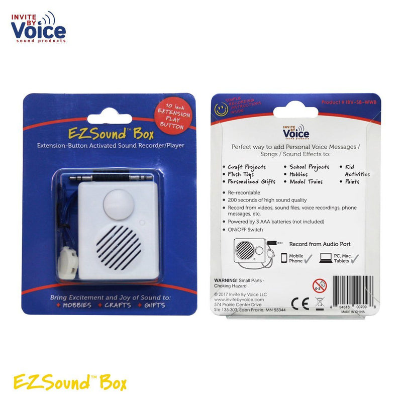 Recordable EZSound Box wired button full packaging