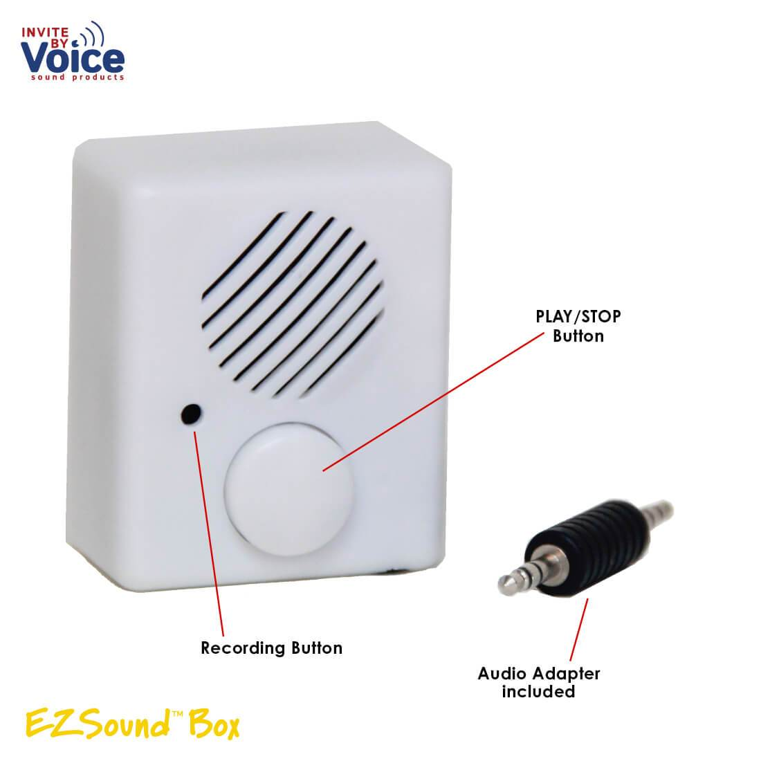 EZSound Box - Front Play Button for Personal Messages, Plush Toys,  Projects, Hobbies, Craft, 200 sec