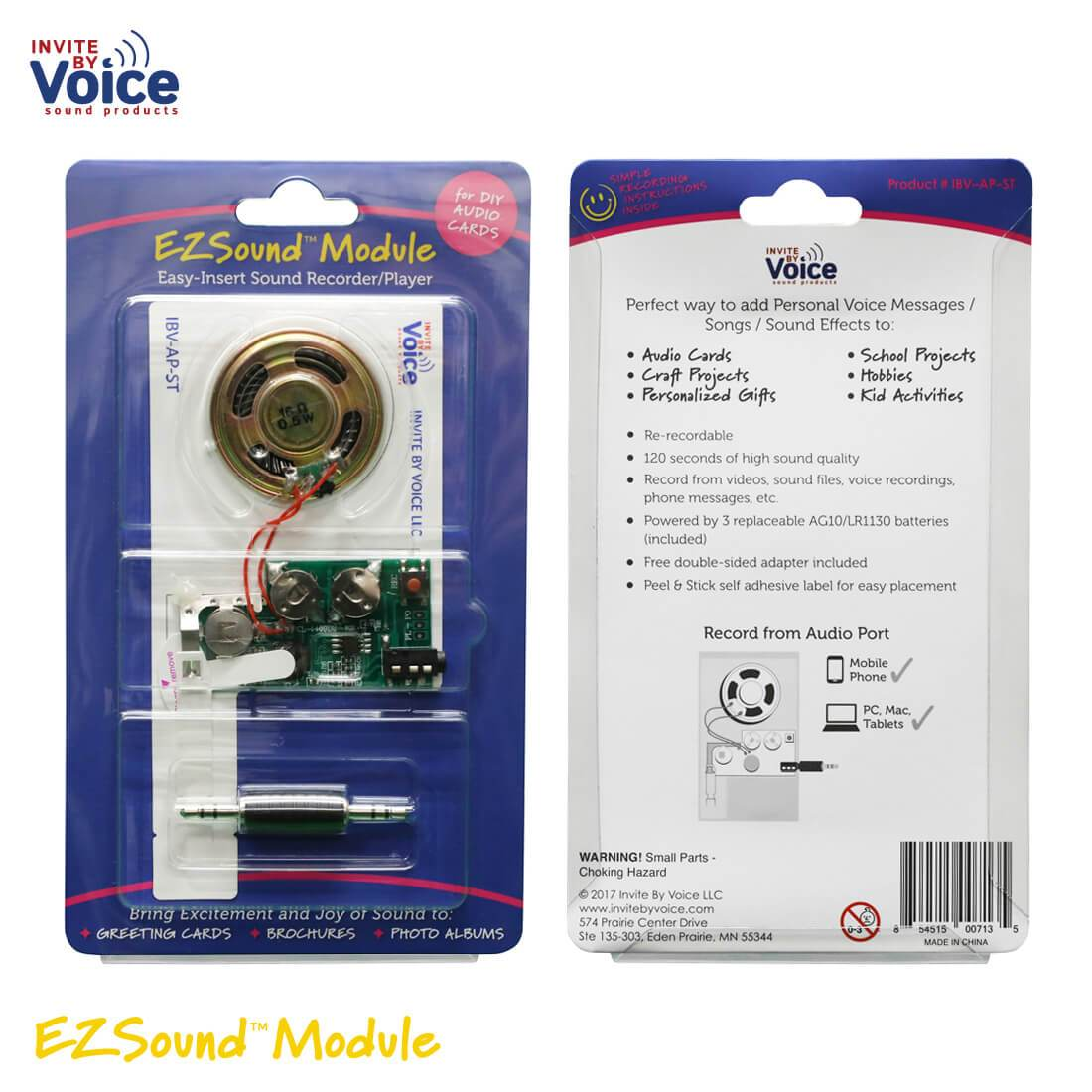 Recordable sound module insert for diy audi cards voice chip ezsound module for diy audio cards easy to record 120 seconds recording high sound quality m4hsunfo