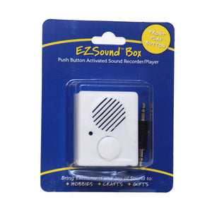 push button recordable sound box for toys