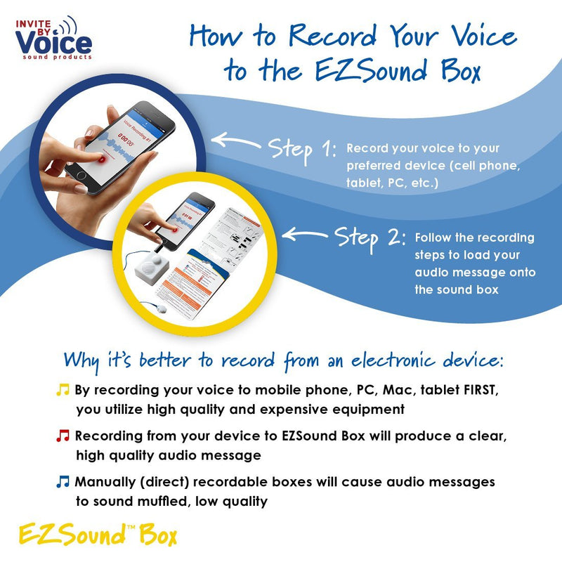 record your own sound into EZSound Box