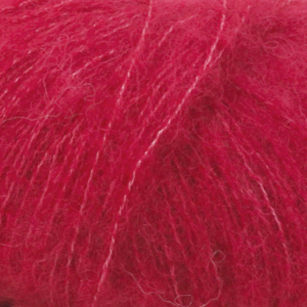 Brushed Alpaca Silk Uni - 7 Rød