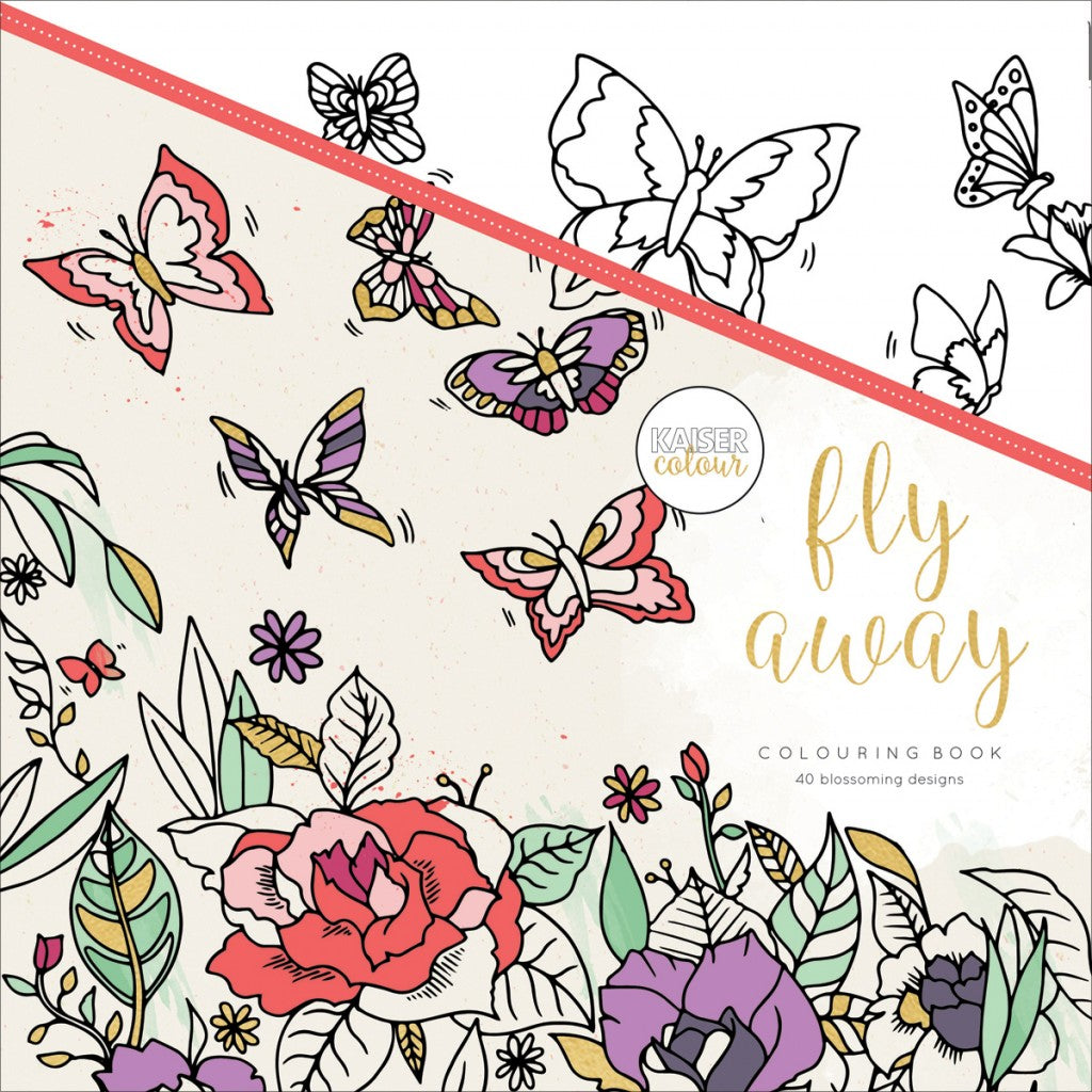 "KaiserColour Perfect Bound Coloring Book 9.75""X9.75""-Fly Away"