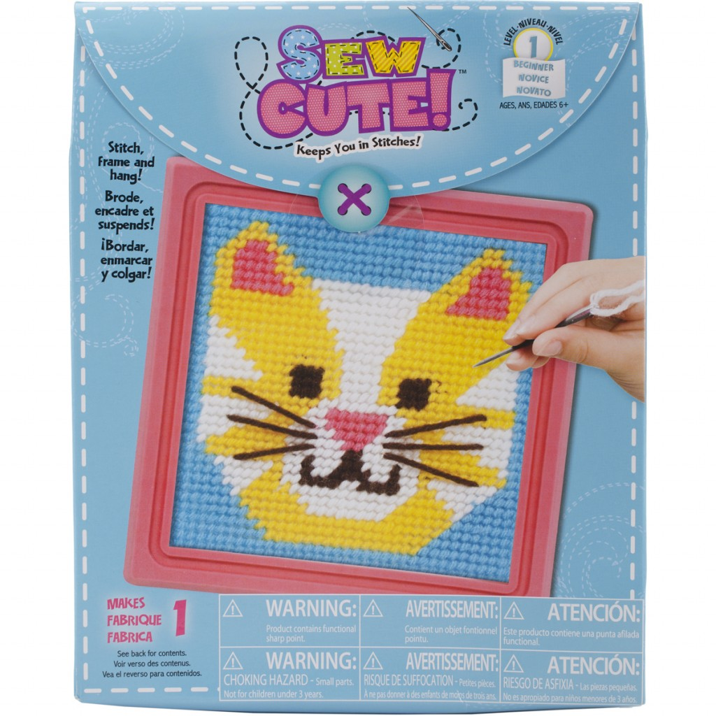 Broderisett, Learn To Sew - Cat