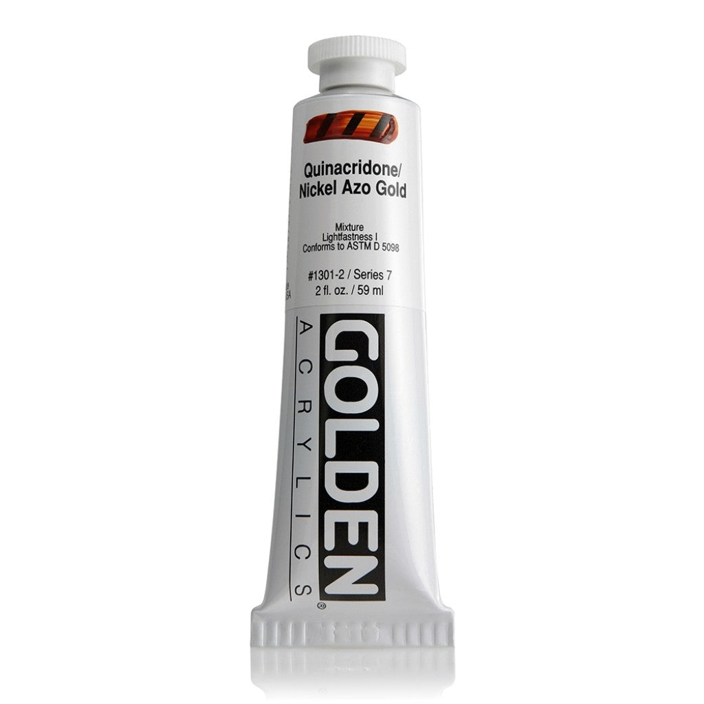 Golden Heavy Body 59ml - 1301-2 - Quinacridone / Nickel Azo Gold