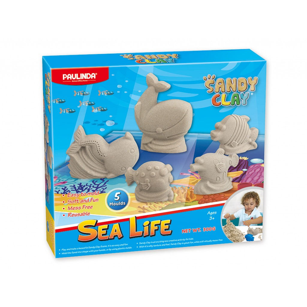 Sandy Clay - Gavesett Sea Life 300g (Kinetic sand)