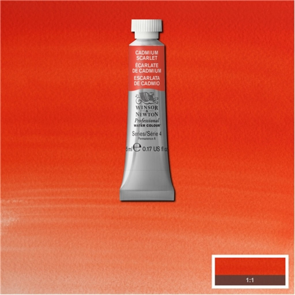 W&N Akvarell Artists 5ml tube - 106 Cadmium scarlet