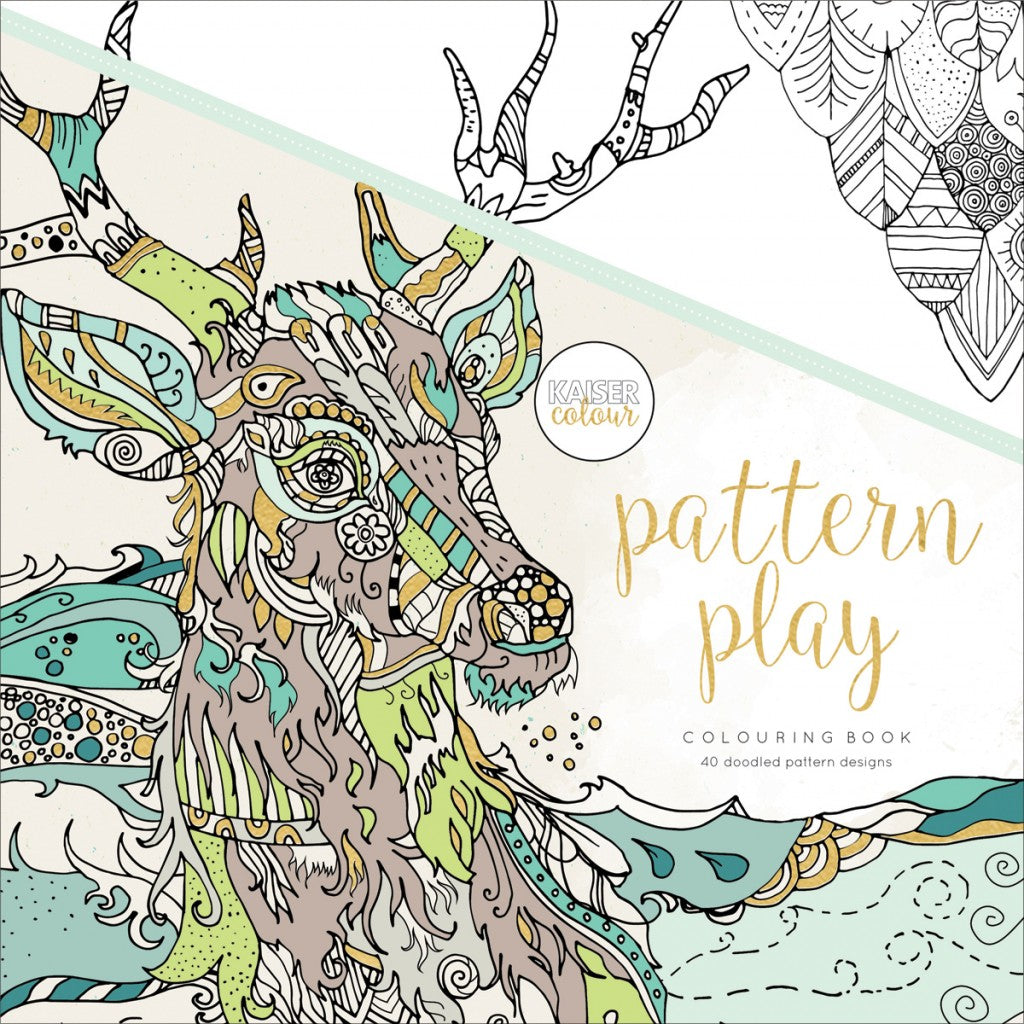 "KaiserColour Perfect Bound Coloring Book 9.75""X9.75""-Pattern Play"