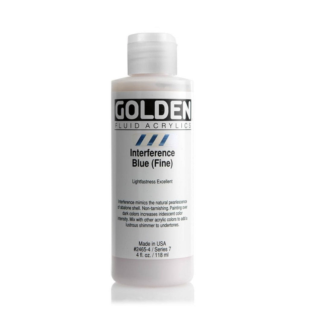 Golden Fluid 118ml - Interference Blue (Fine)
