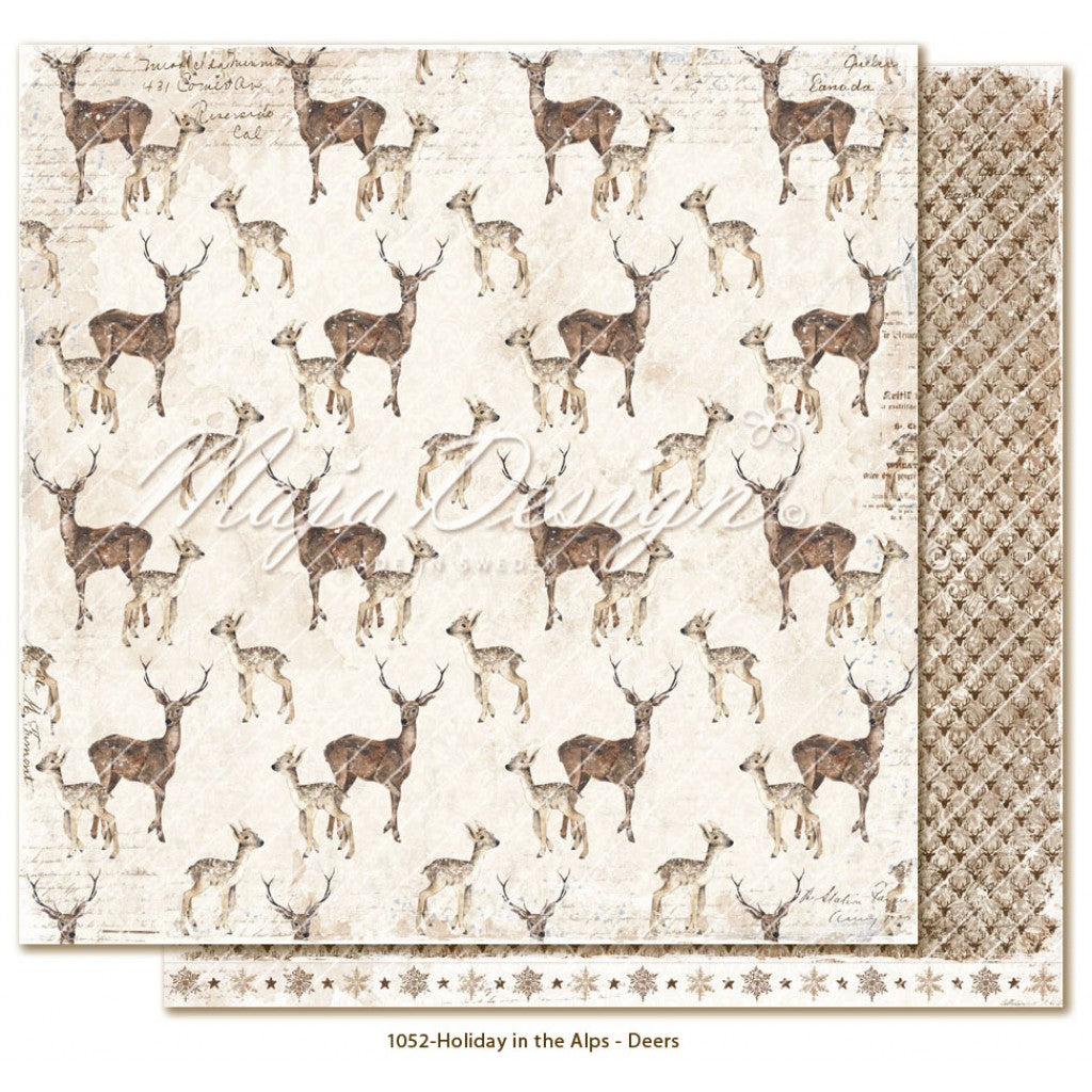 "Maja Design - Holiday in the Alps - Deers  12""x12"""