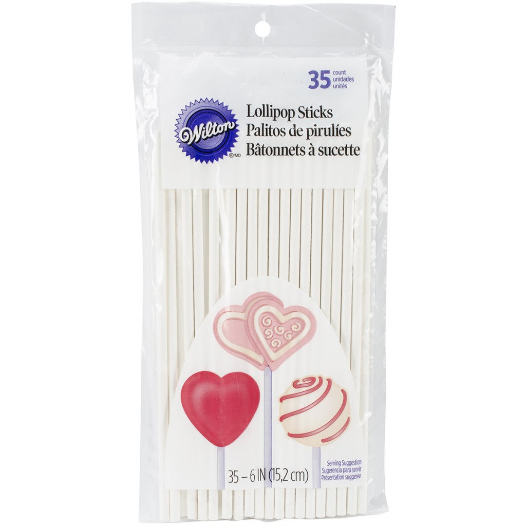 Lollipop Sticks 35/Pkg-6""