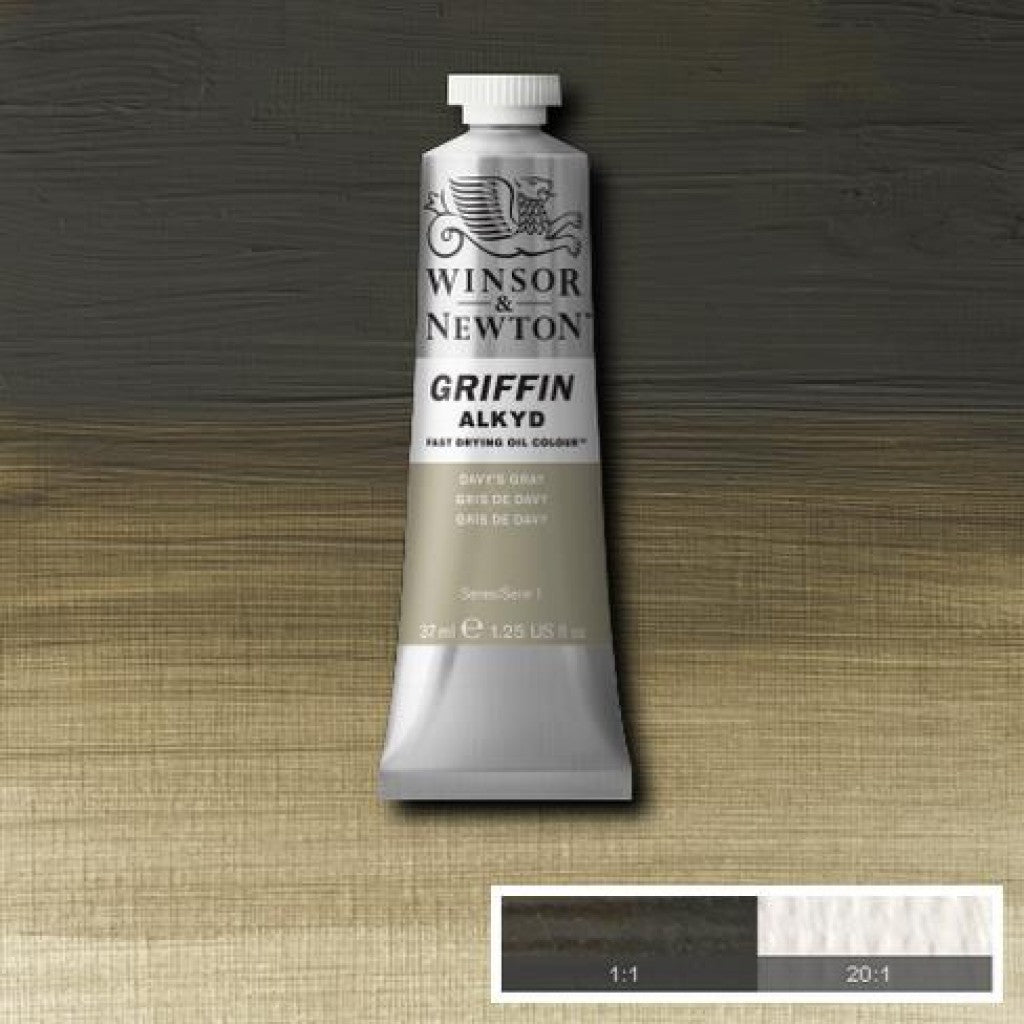 W&N Griffin Alkyd - 217 Davy'S Gray 37ml