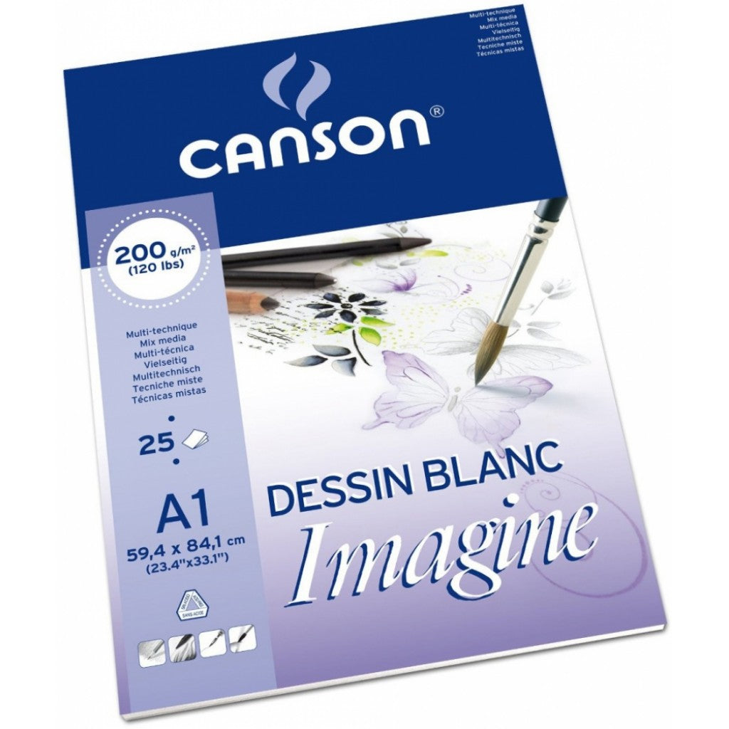 CANSON IMAGINE A1 200G BLOKK 25 ARK
