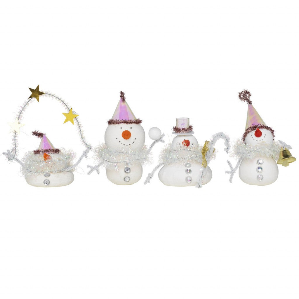 Diy Kit 4Pk Glitzy Snowmen