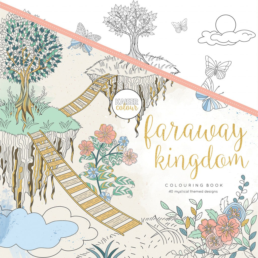 "KaiserColour Perfect Bound Coloring Book 9.75""X9.75""-Faraway Kingdom"