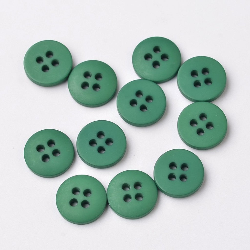 Knapp i Frostet Epoxy, 23mm - Dark Cyan Green