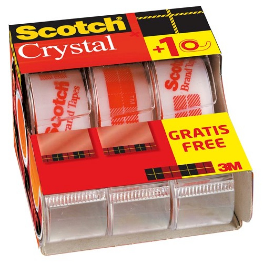 Scotch Crystal Tape V-Pack 3 dispensere