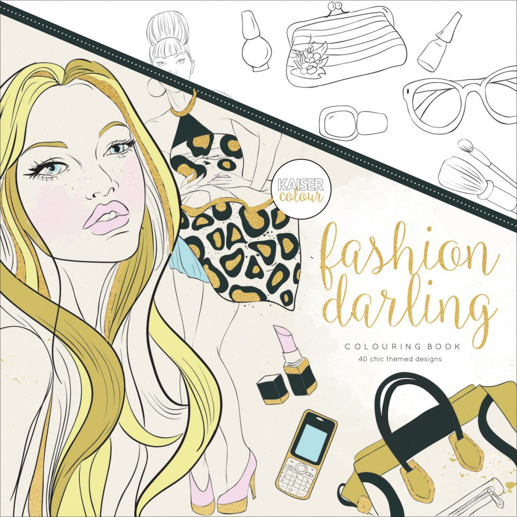 "KaiserColour Perfect Bound Coloring Book 9.75""X9.75""-Fashion Darling"