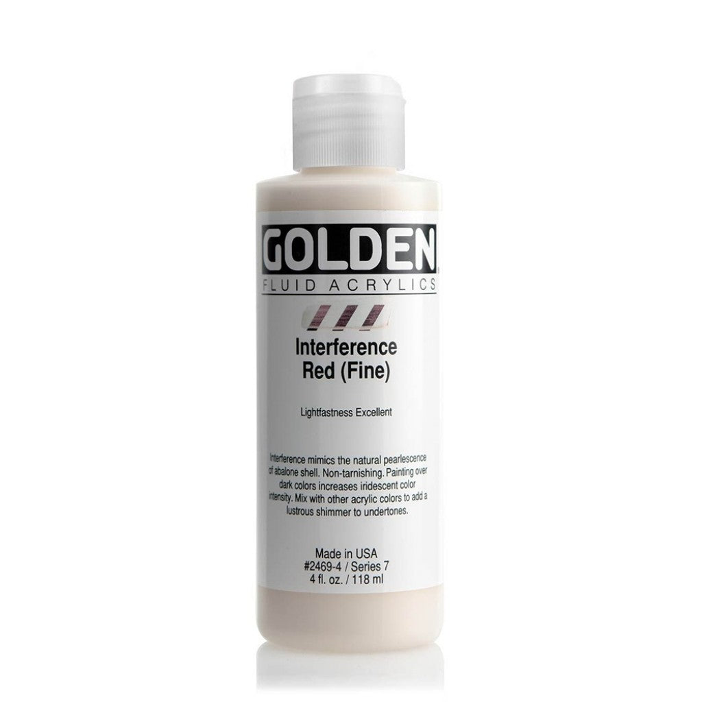 Golden Fluid 118ml - Interference Red (Fine)