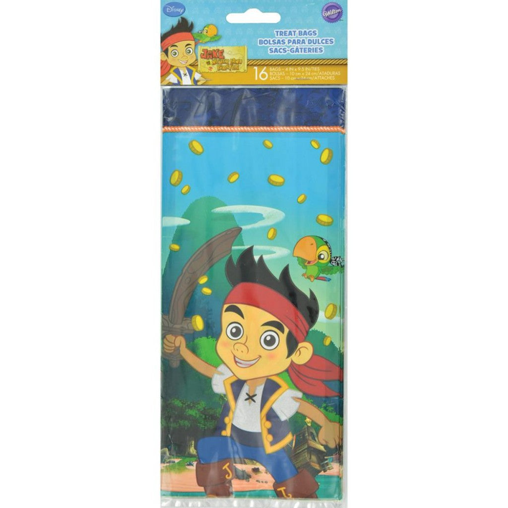 Treat Bags-Jake And The Never Land Pirates 16/Pkg