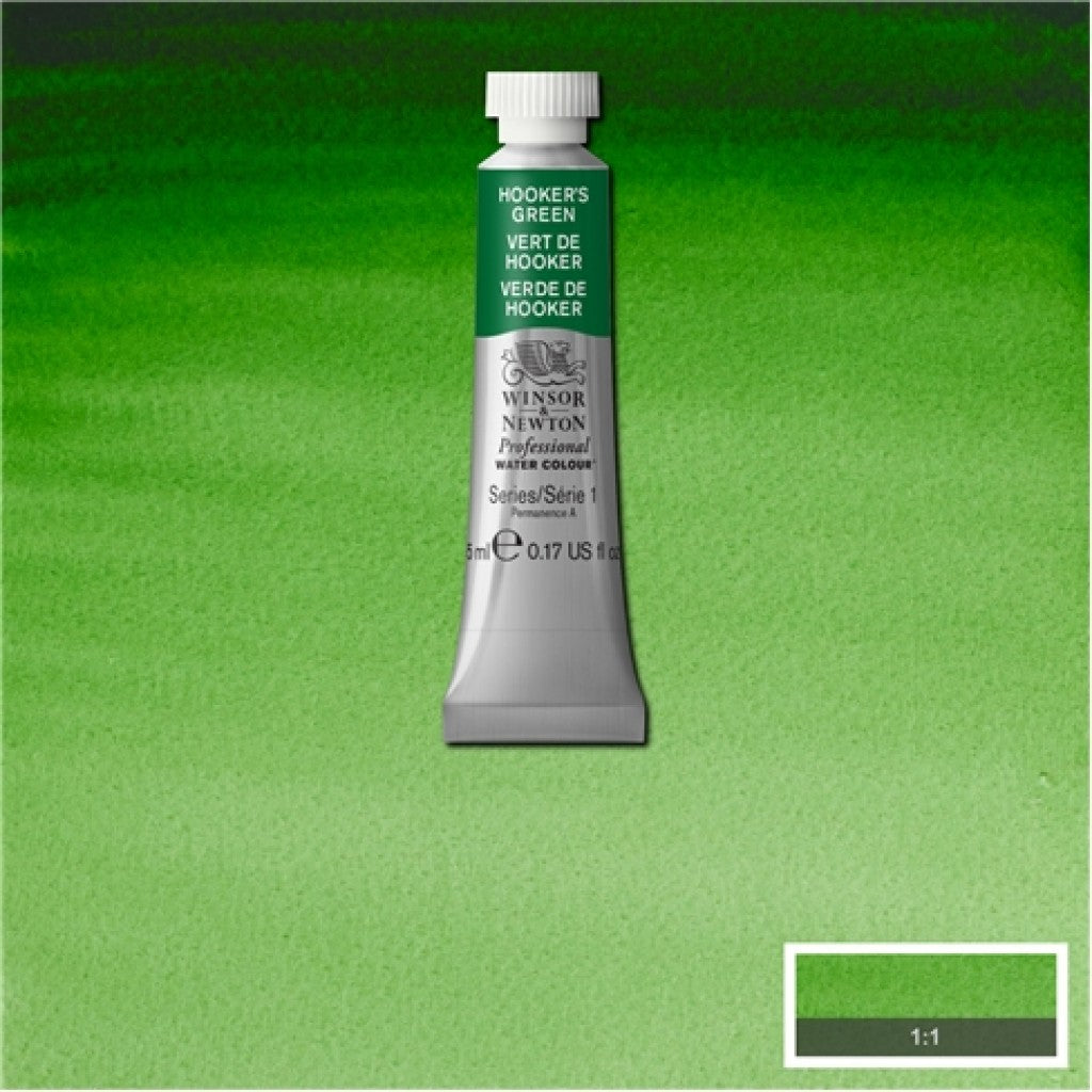 W&N Akvarell Artists 5ml tube - 311 Hookers green