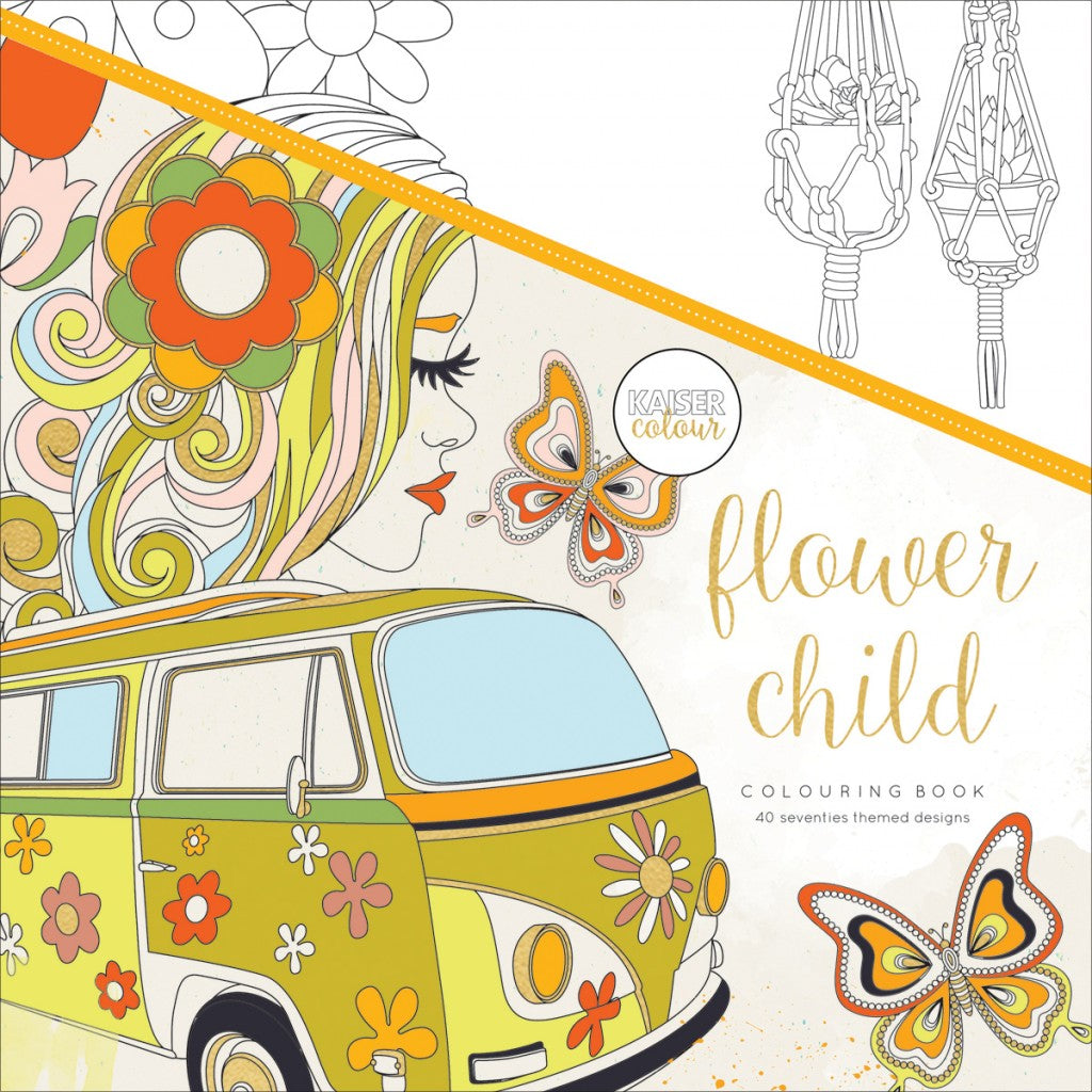 "KaiserColour Perfect Bound Coloring Book 9.75""X9.75""-Flower Child"