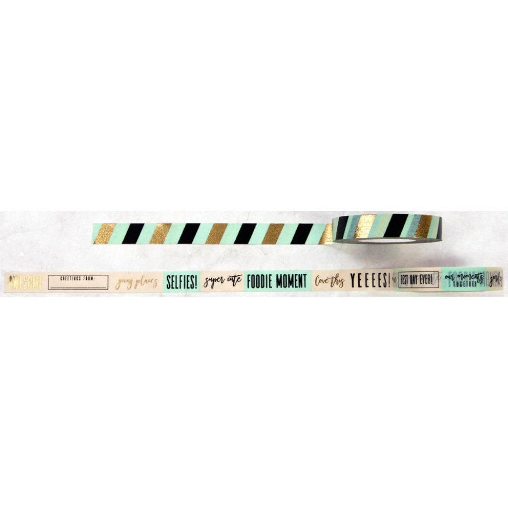 My Prima Planner Washi Tape - Stripes/Words