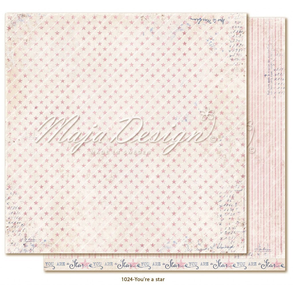 "Maja Design - Denim & Girls - You're a Star 12""x12"""