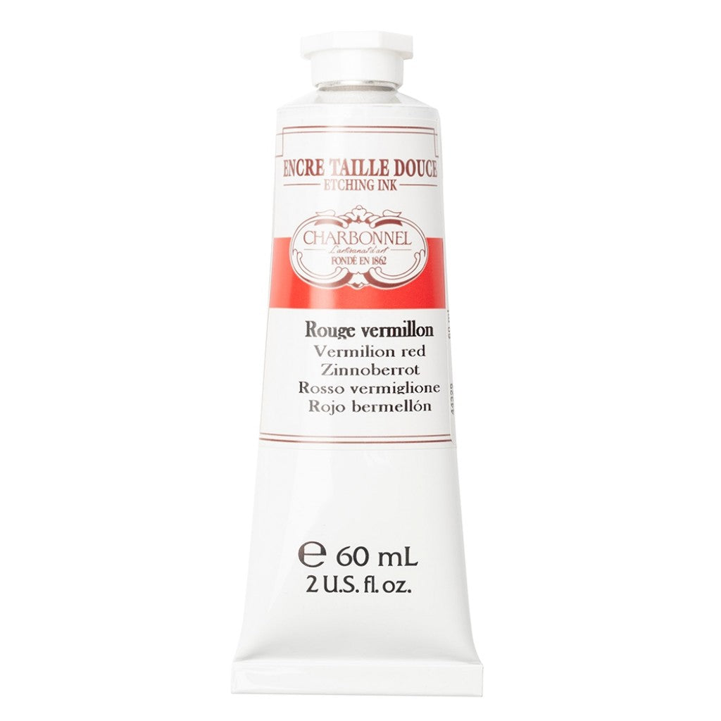 Charbonnel Etching Ink - Vermillion Red 60ml.