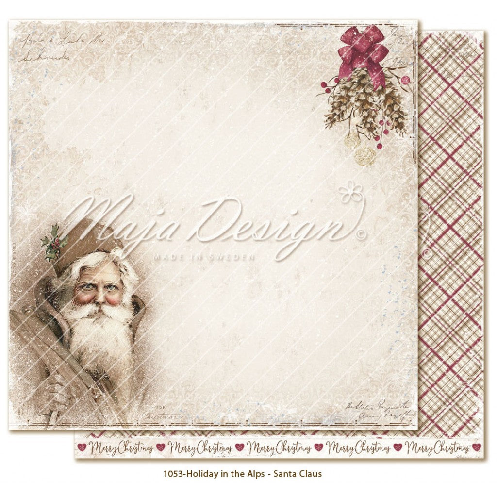 "Maja Design - Holiday in the Alps - Santa Claus 12""x12"""
