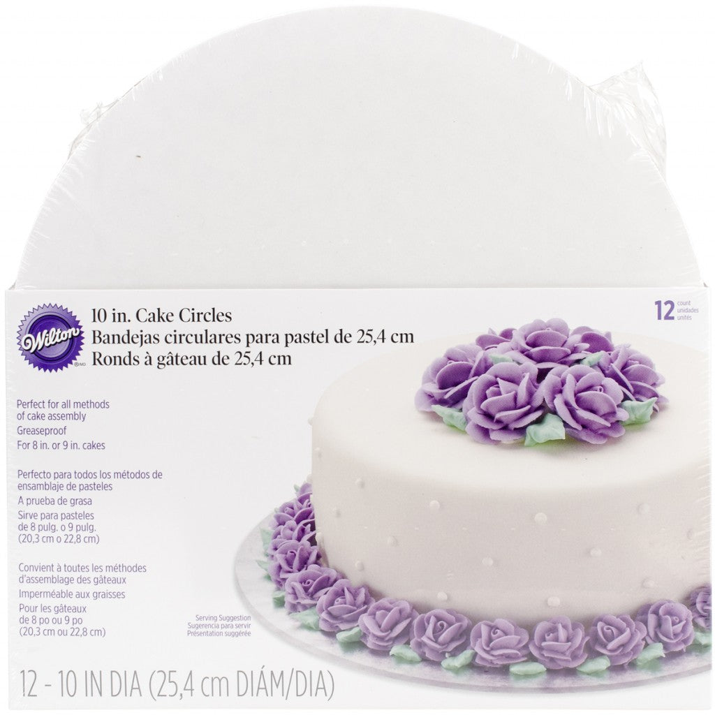 "Wilton - Cake Boards - 10"" Round White 12/Pkg"