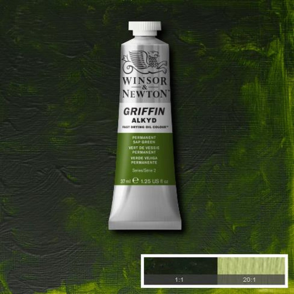 W&N Griffin Alkyd - 503 Permanent Sap Green 37ml