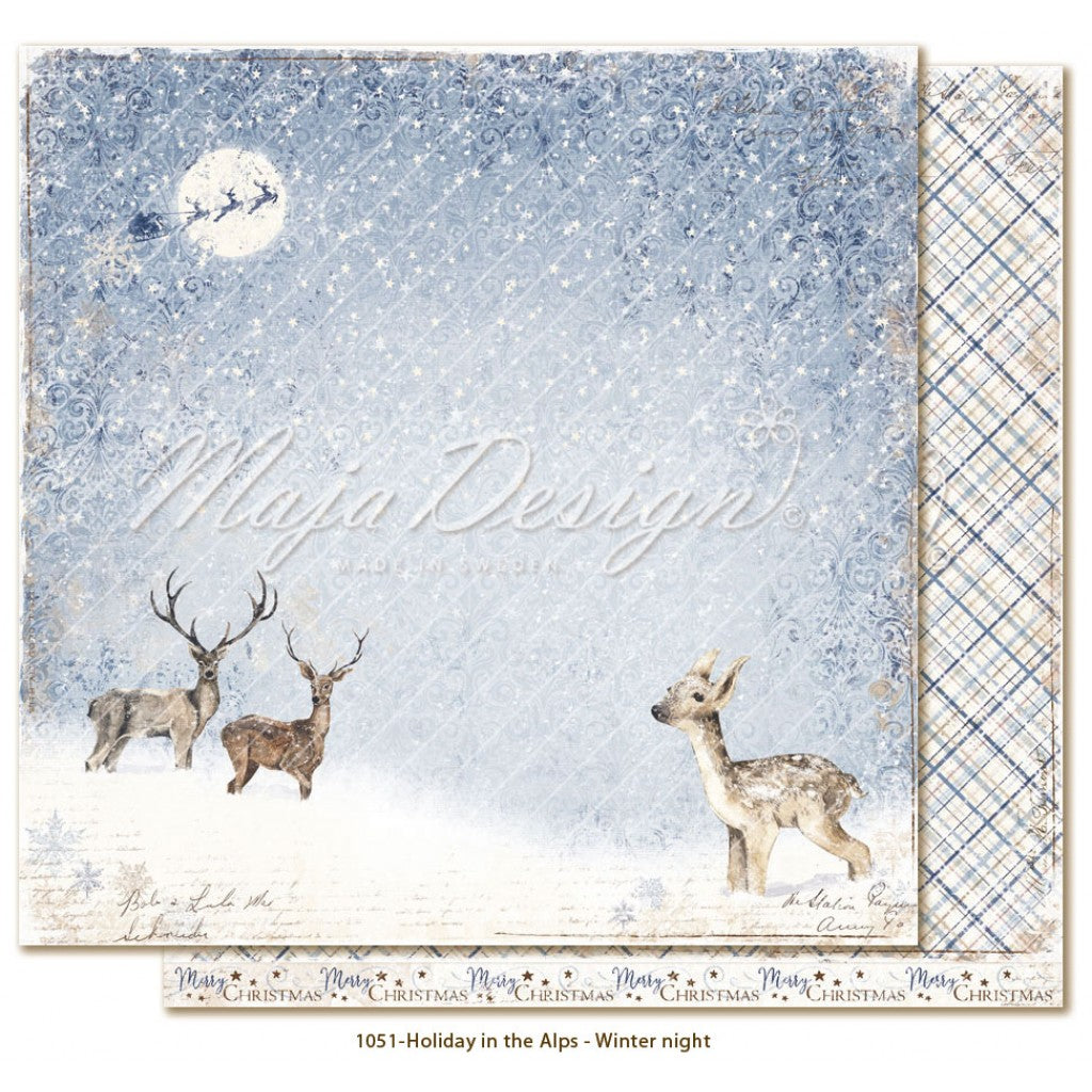 "Maja Design - Holiday in the Alps - Winter night 12""x12"""