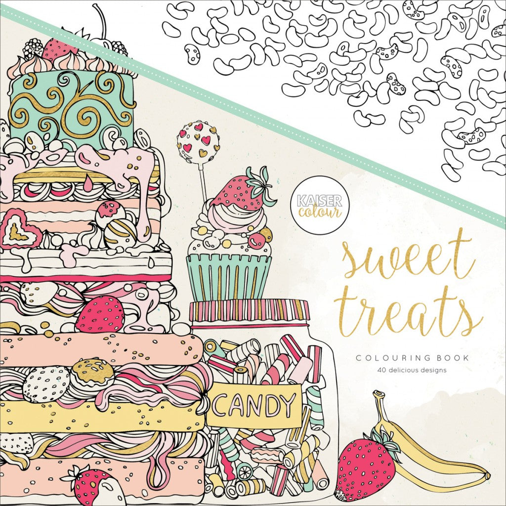 "KaiserColour Perfect Bound Coloring Book 9.75""X9.75""-Sweet Treats"