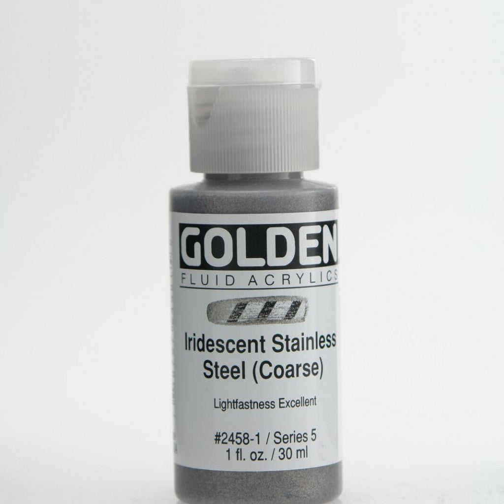 Golden Fluid 30ml - Iridescent Stainless Steel (Coarse)