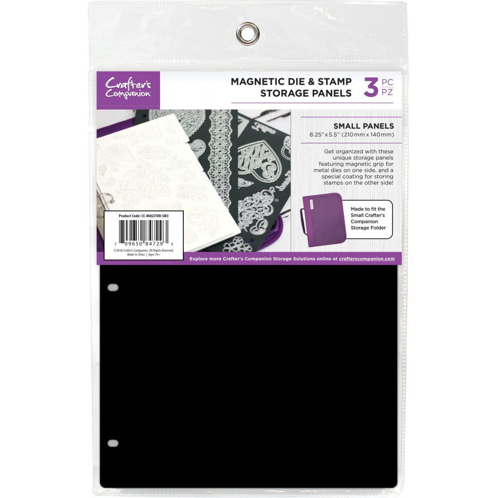 "Crafter's Companion 8.25""X5.5"" Magnetic Storage Panels 3/Pkg-Small"