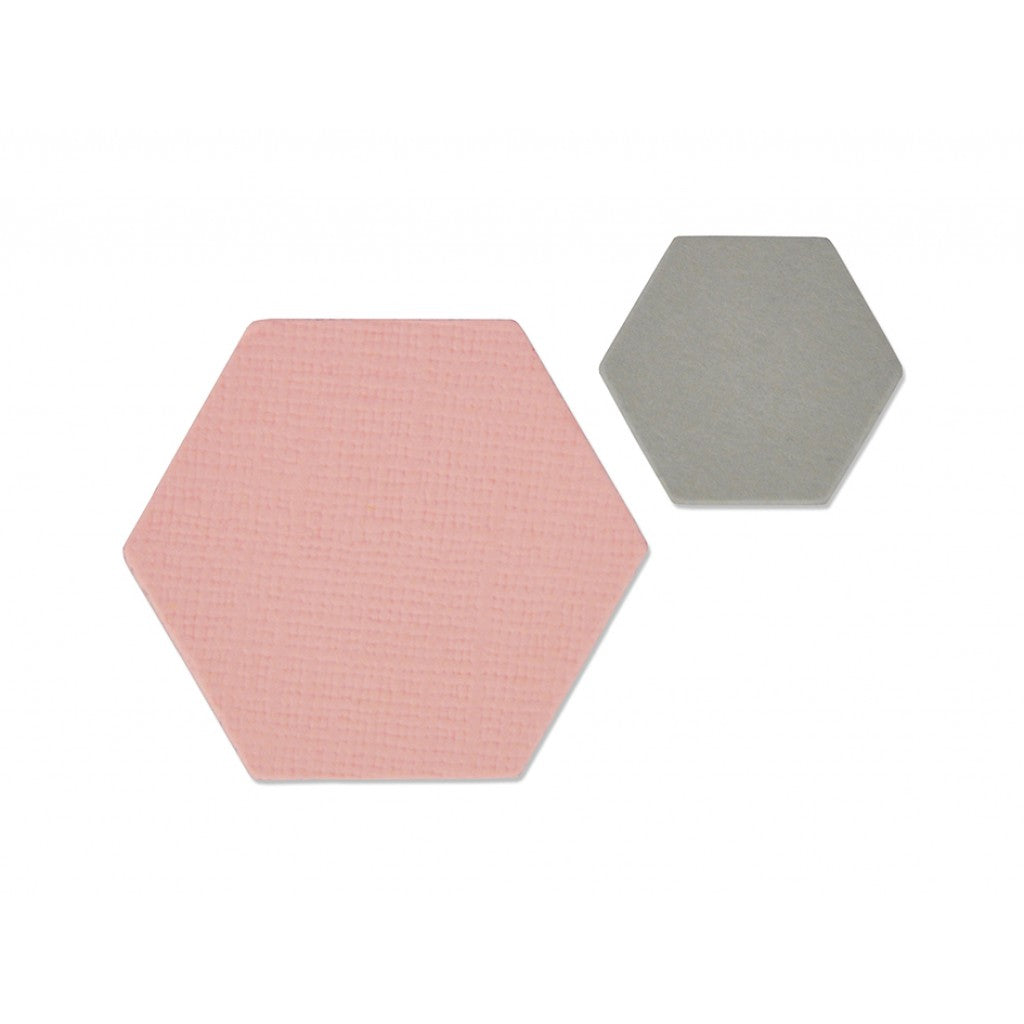 Sizzix Framelits Die Set 2PK - Small Hexagons