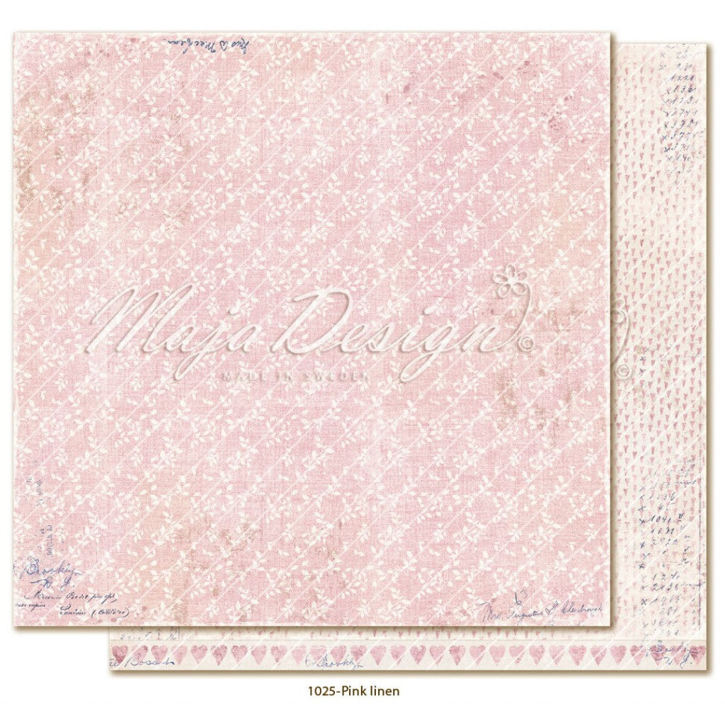 "Maja Design - Denim & Girls - Pink Linen 12""x12"""