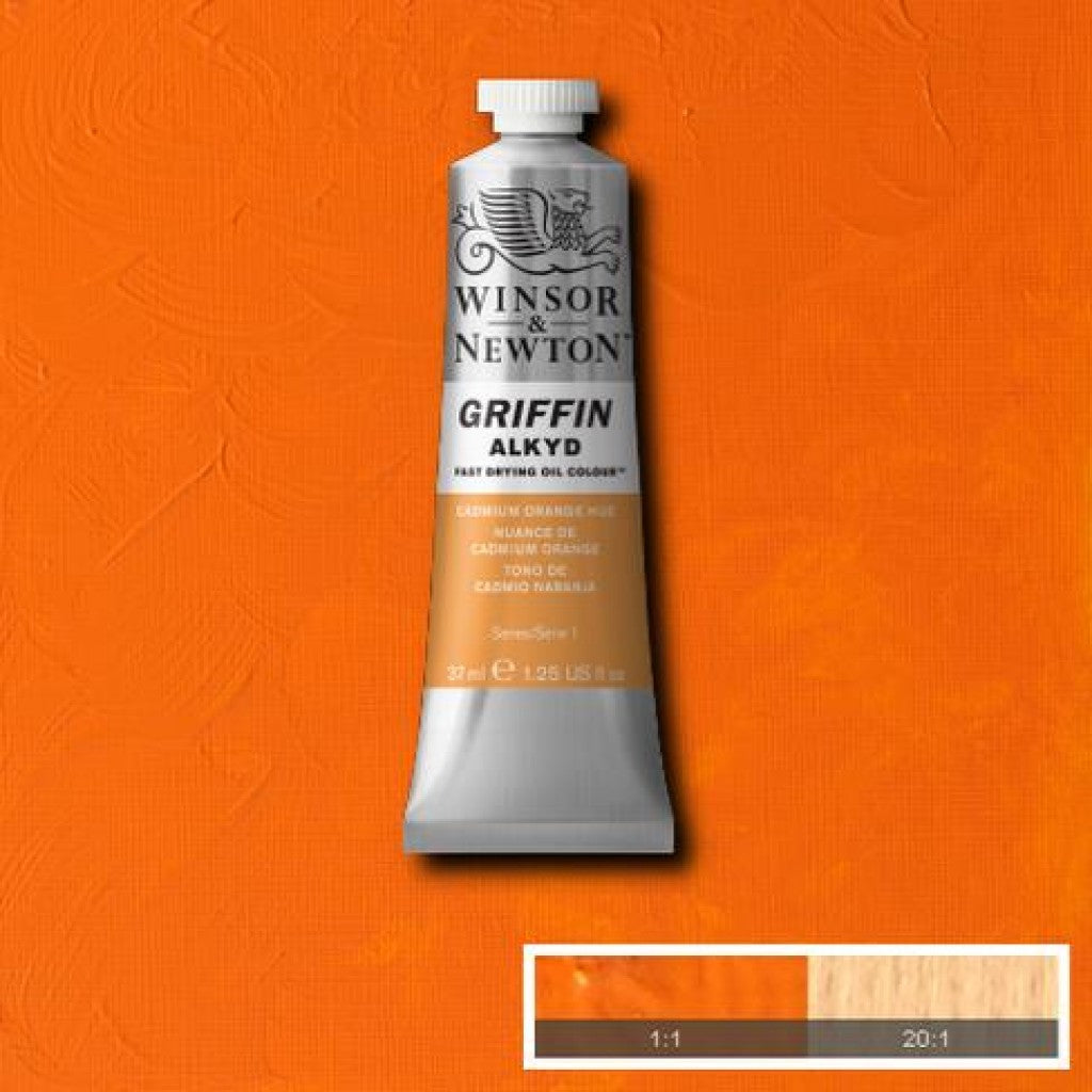 W&N Griffin Alkyd - 090 Cadmium Orange Hue 37ml