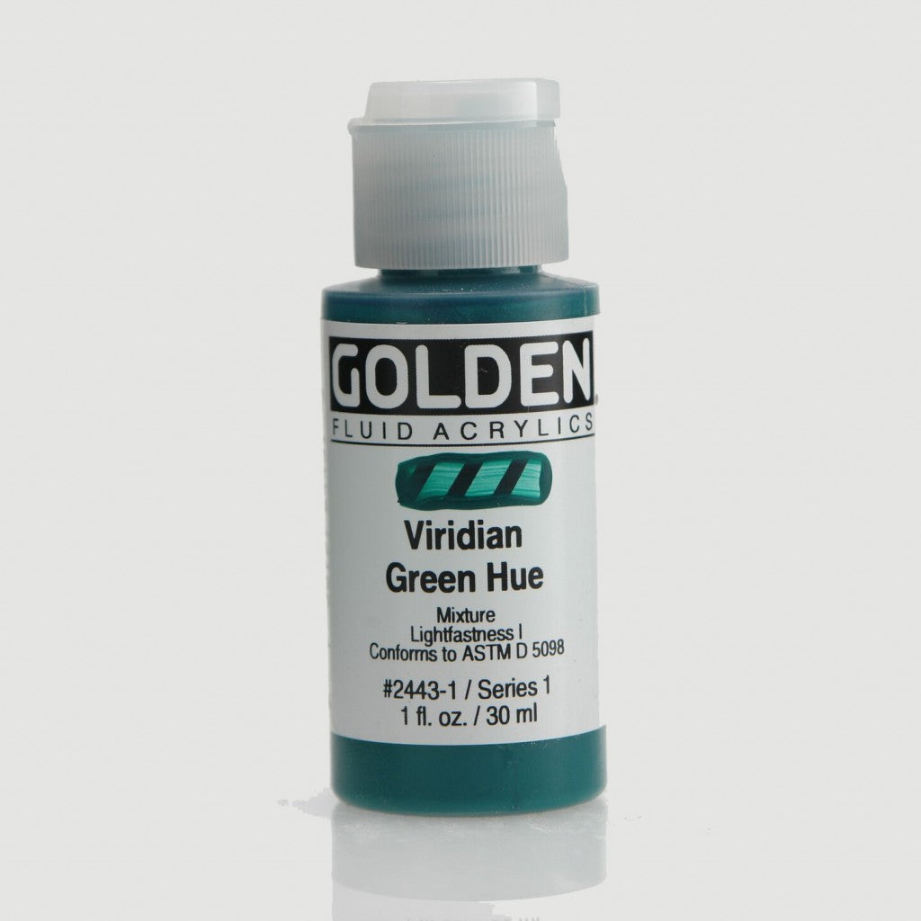 Golden Fluid 30ml - Viridian Green Hue