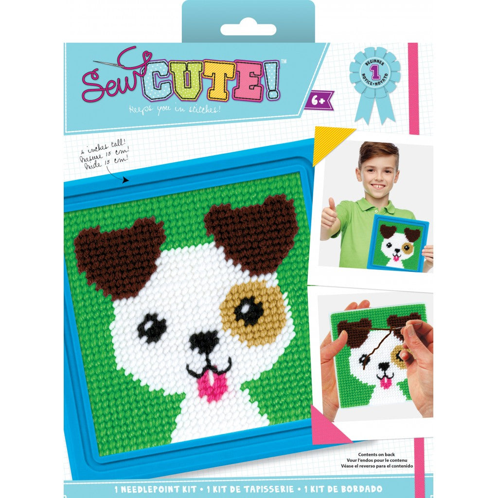 "Sew Cute! Jack Dog Needlepoint Kit-6""X6"" Stitched In Yarn"