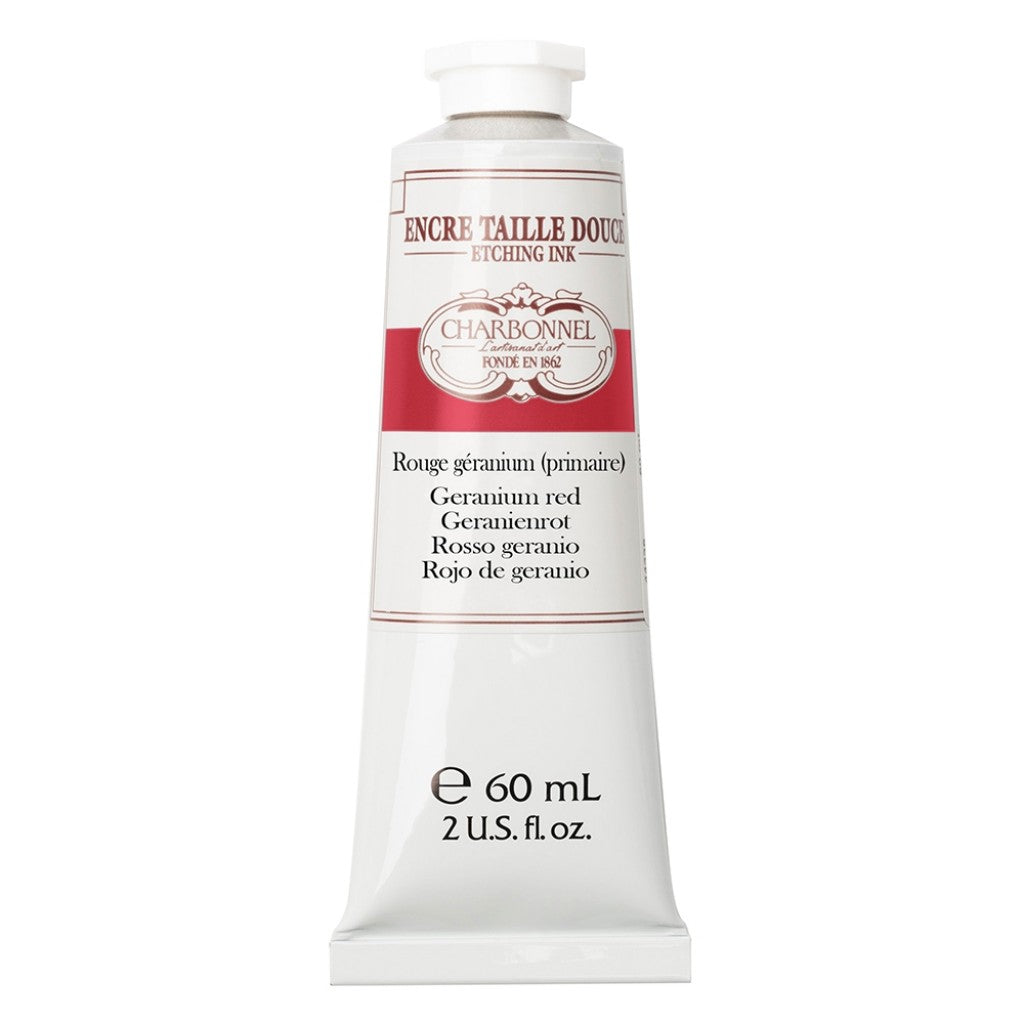 Charbonnel Etching Ink - Geranium Red 60ml. (Primary)