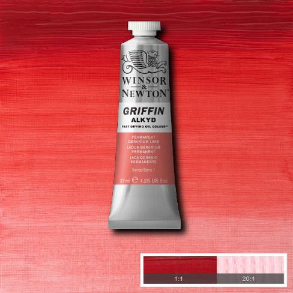W&N Griffin Alkyd - 480 Permanent Geranium Lake 37ml
