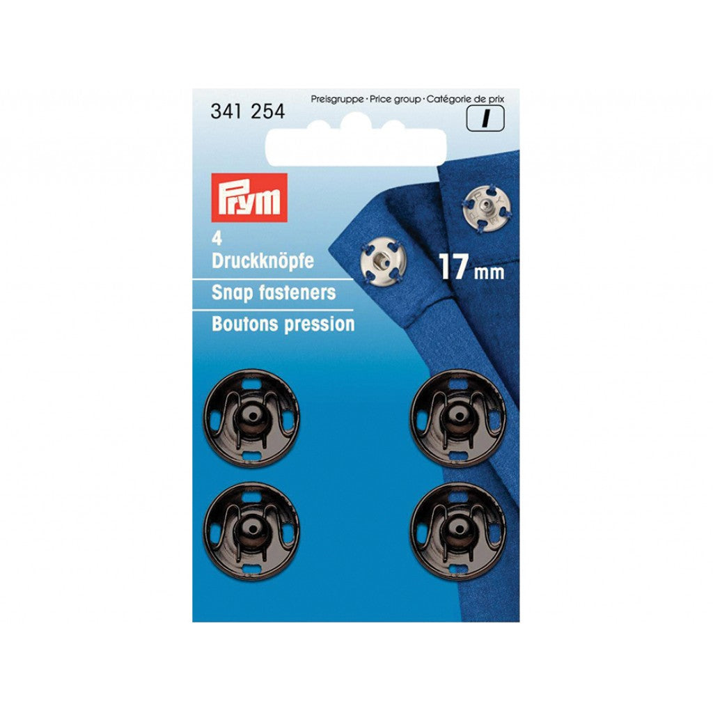 Prym Patentknapper 17mm 4stk - Sort